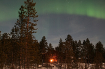 Northern lights over the guesthouse